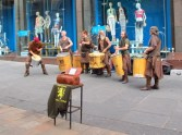 Busking band in Glasgow