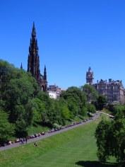 Taking the sun in Edinburgh