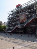 "Centre Pompidou building's ""exposed skeleton"""