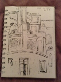 Sketching at Cathedral of Arras
