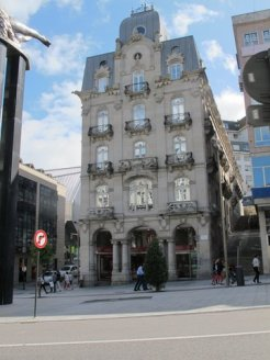 Such wonderful reflections in those windows, Vigo, Spain