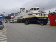 National Geographic ship at Ushuaia