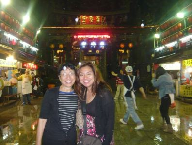 My mother and I taking our first trip together to Taipei