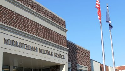 Front of Midlothian Middle School