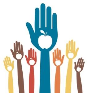 healthy apple hands design. - volunteer