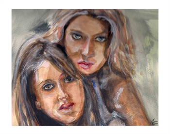 Portrait of two girls.