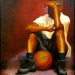 Basketball player w ball