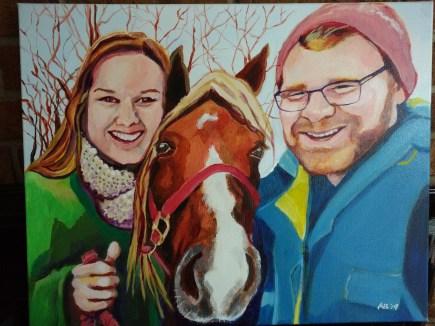 Wedding couple portrait commission