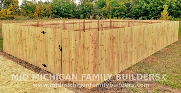 Mid Michigan FamIly Builder New Fence Project 10 2021 01 02