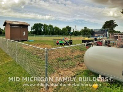 Mid Michigan Family Builders Chain Link Fence Project 07 2020 01 03