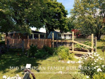 Mid Michigan Family Builders Custom Hand Built Cedar Shadow Box Fence 06 25 2018 06