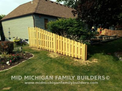 Mid Michigan Family Builders Custom Hand Built Cedar Shadow Box Fence 06 25 2018 07