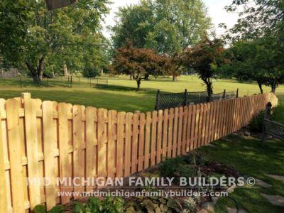 Mid Michigan Family Builders Custom Hand Built Cedar Shadow Box Fence 06 25 2018 08