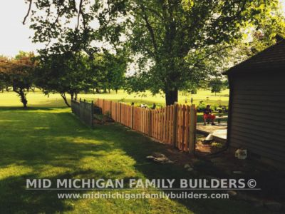 Mid Michigan Family Builders Custom Hand Built Cedar Shadow Box Fence 06 25 2018 09