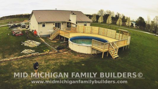 Mid Michigan Family Builders Deck Project Pool 05 11 2018 04