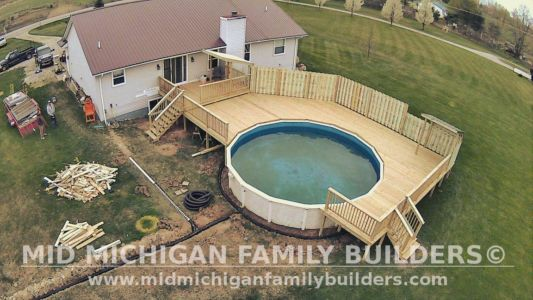 Mid Michigan Family Builders Deck Project Pool 05 11 2018 06