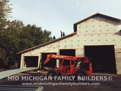 Mid Michigan Family Builders Huge Barn Project 10 2018 08