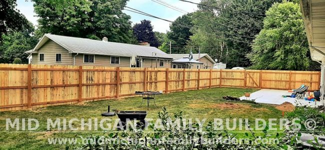 Mid Michigan Family Builders New Fence Project 08 2021 05 04