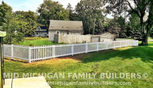 Mid Michigan Family Builders New Fence Project 08 2021 08 04