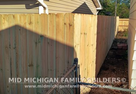Mid Michigan Family Builders New Fence Project 09 2021 04 07