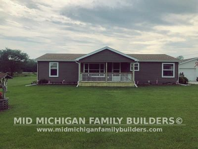 Mid Michigan Family Builders Siding Front Porch Roof Garage Project 06 2019 01 08