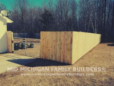 Mid Michigan Family Builders Wooden Fence Project 03 2019 01 02