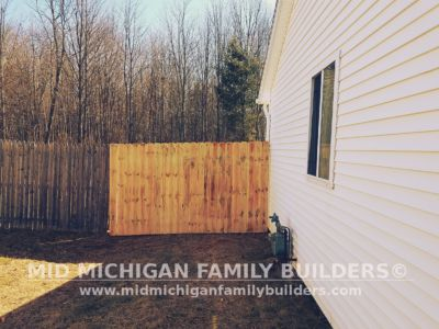 Mid Michigan Family Builders Wooden Fence Project 03 2019 01 05