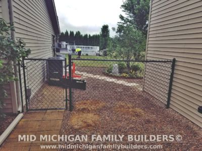 Mid Michigan family Builders Chain Link Fence Project 07 2020 03 05