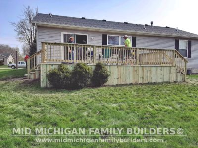 Mid Michigan family Builders Deck project 05 2020 01 02