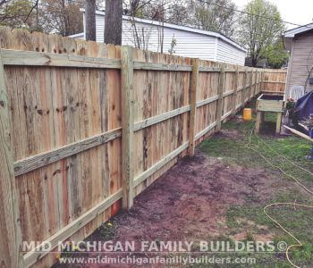 Mid Michigan family Builders Fence Project 05 2020 01 01