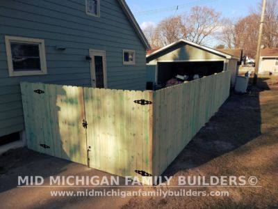 Mid Michigan Family Builders Wooden Fence Project 04 2019 01 05