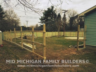Mid Michigan Family Builders Wooden Fence Project 04 2019 02 03
