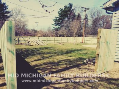 Mid Michigan Family Builders Wooden Fence Project 04 2019 02 06