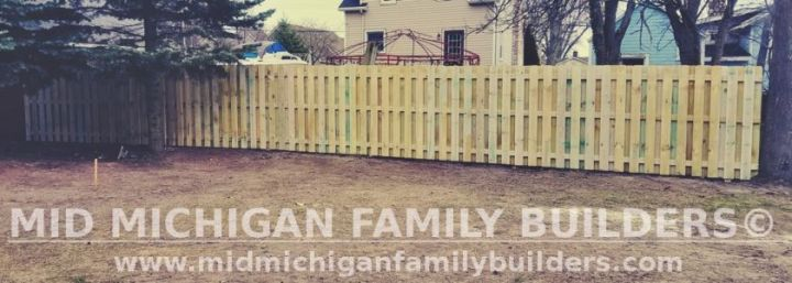 Mid Michigan Family Builders Wooden And Metal Fence Project 04 2019 01 01