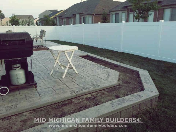 Mid Michigan Family Builders Custom Construction Project Hardscaping Patio