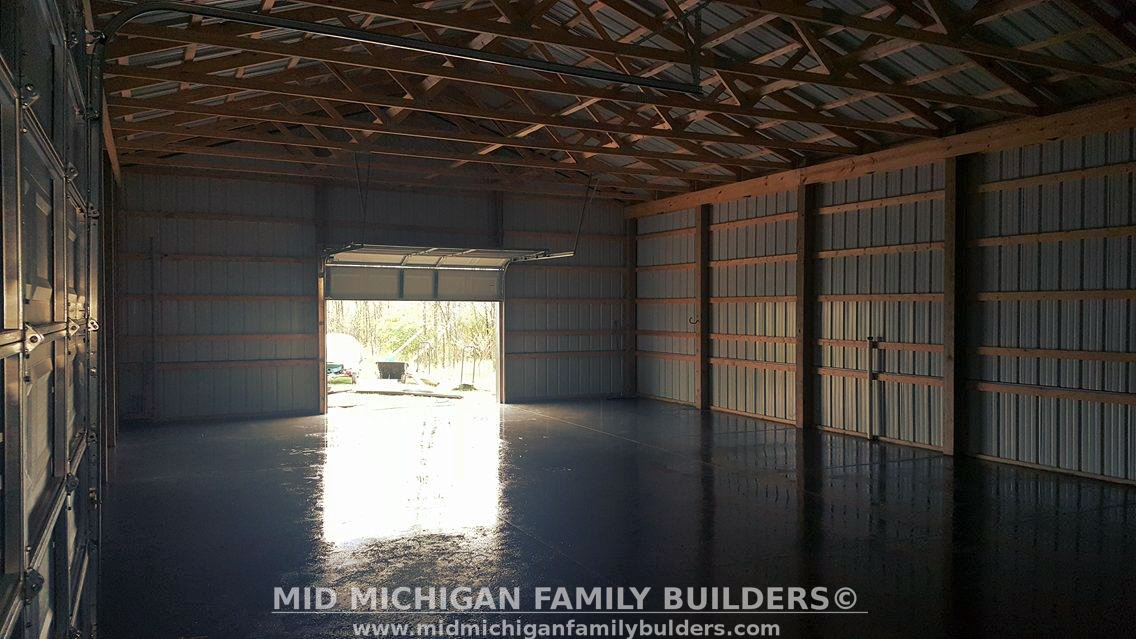 Mid Michigan Family Builders Custom Construction Project Pole Barn Structures flooring