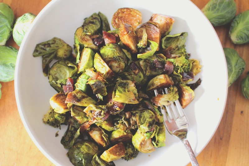 Balsamic Roasted Broccoli  and Brussel Sprouts, 5 Ingredients