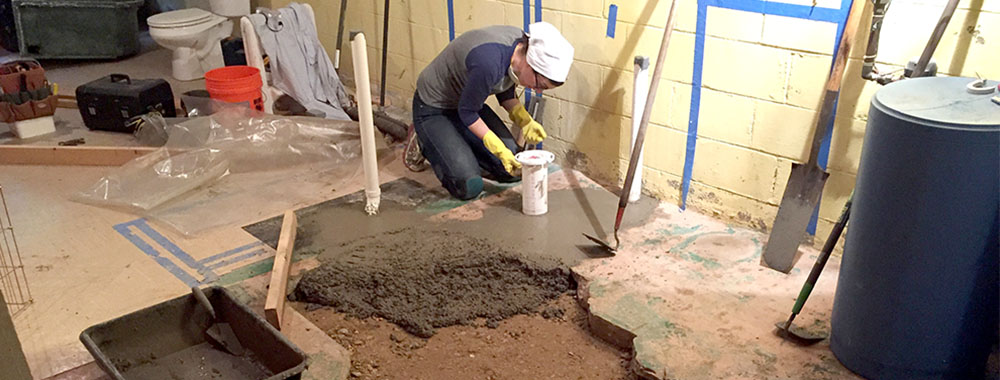 Progress: Pouring the Concrete Slab was Pretty Easy!