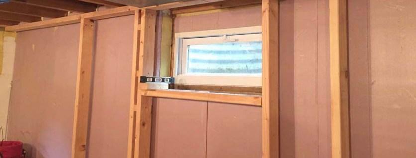 basement window header