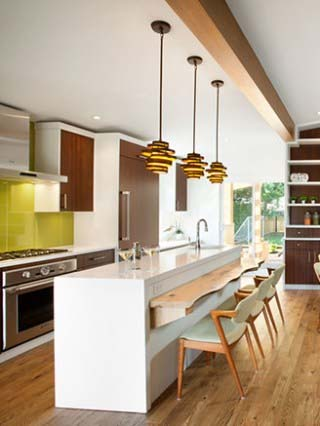 midcentury style updated kitchen