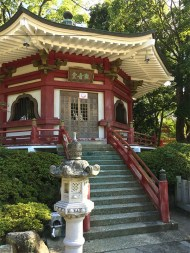 japanese red temple architecture stairs
