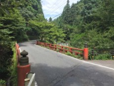 japanese red temple architecture road