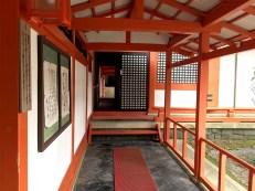 japanese red temple architecture vestibule