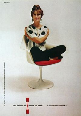 knoll midcentury red tulip chair