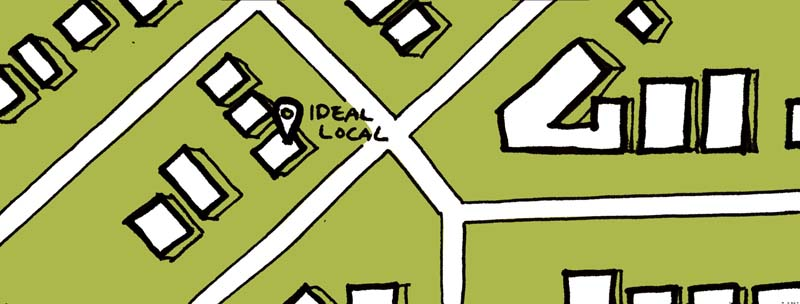 sketch of google map image