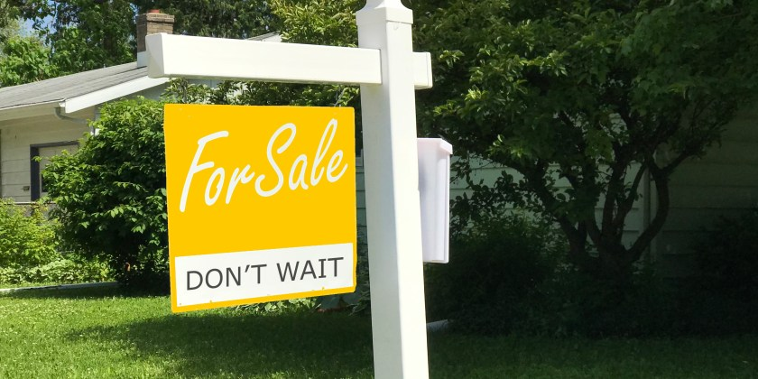 vintage yellow for sale sign