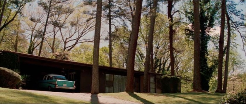 exterior of the Vaughn house in Hidden Figures movie, shot in Collier Heights, Georgia