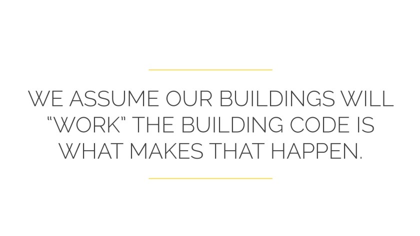"""we assume that our buildings will """"work.""""  The Kitchen Building Code is what makes that happen"""