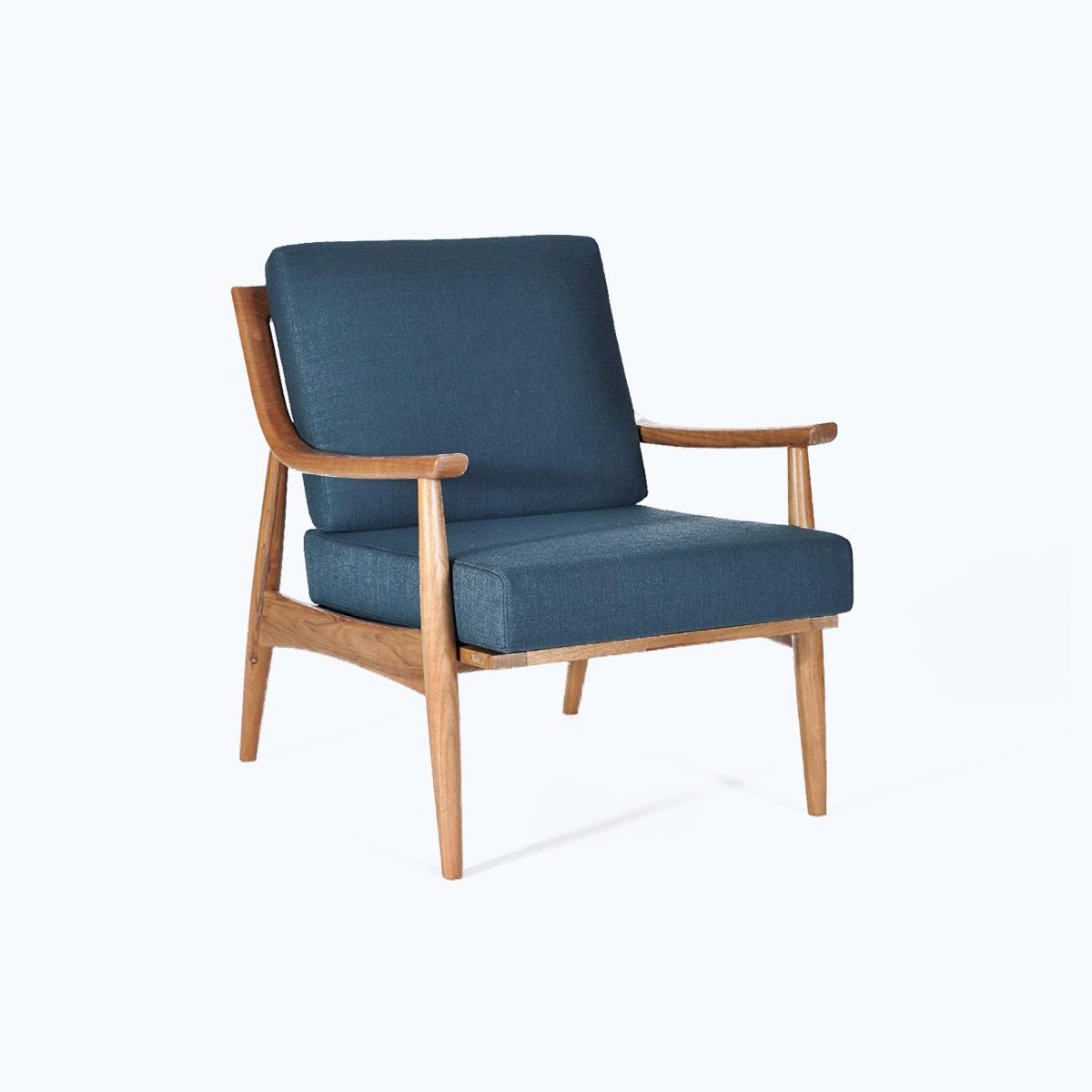 Adam Chair Hand Built Walnut Frame Mid Century Modern