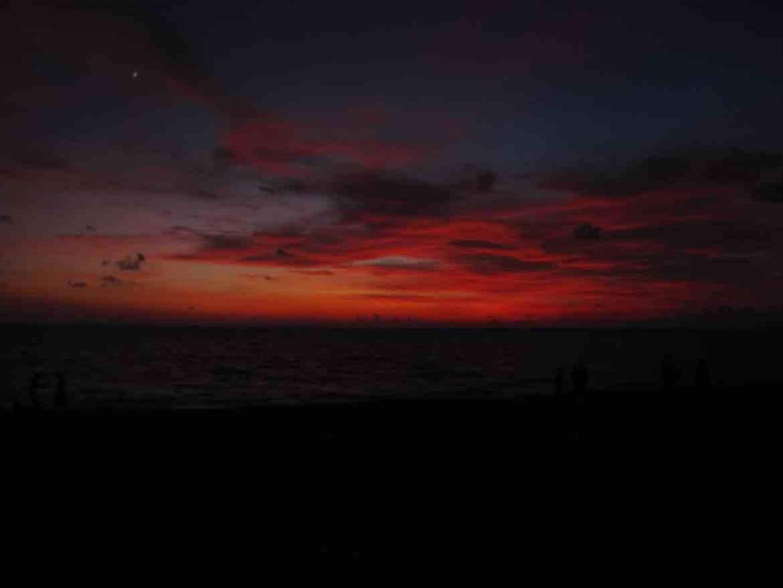 Sunset off the Kona Coast of Hawaii